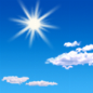 Sunny, with a high near 57. North northwest wind 7 to 10 mph, with gusts as high as 18 mph.