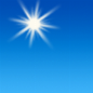 Sunny, with a high near 77. North northwest wind 6 to 9 mph.